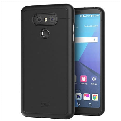 LG G6 Slim Case Smooth Touch SlimShield Armor