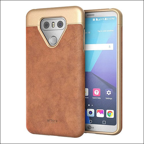 Premium Vegan Leather LG G6 Case from Artura Collection