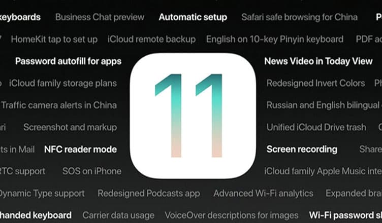 iOS 11 Features Announced at WWDC 2017