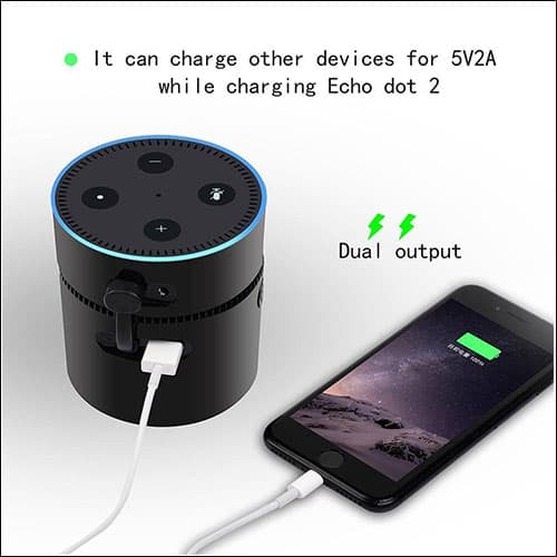 niceEshop Amazon Echo Dot Portable Battery Base