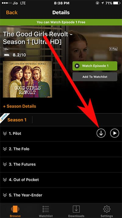 Download Prime TV Shows and Movies on iPhone or iPad-