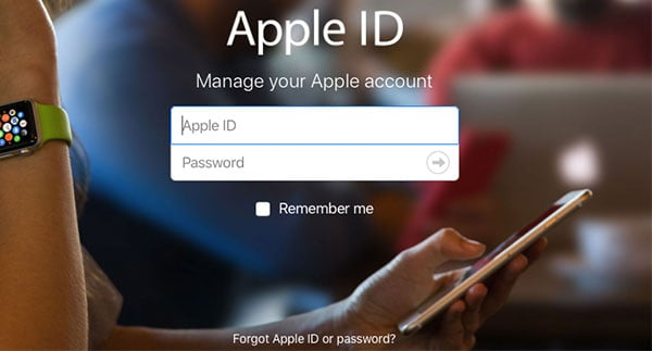Open appleid.apple.com