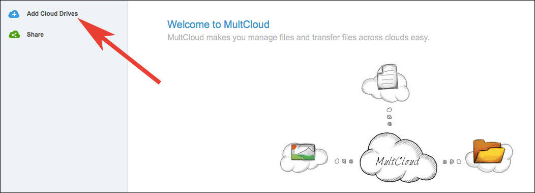 Click on Add Cloud Drives
