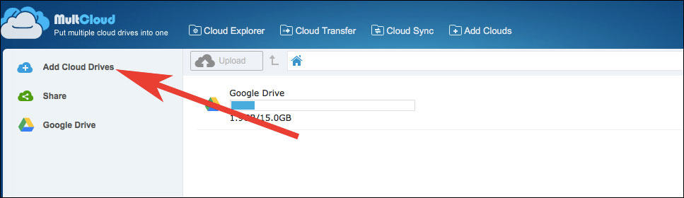 Click on Add iCloud Drive for Second Time to Add another cloud storage