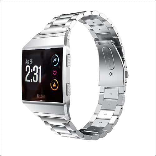 EloBeth Stainless Steel Replacement Band for Fitbit Ionic