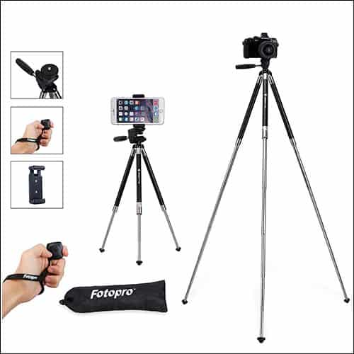 Fotopro 39.5 Inch Aluminum Camera tripod for iPhone