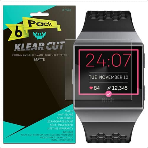 Klear Cut Screen Protector for Fitbit Ionic Smartwatch