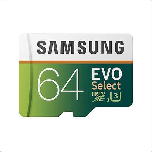 Samsung EVO 64GB microSD Card for Moto Z2 Force