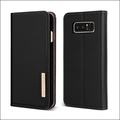 BENTOBEN Luxury Genuine Leather Galaxy Note 8 Case