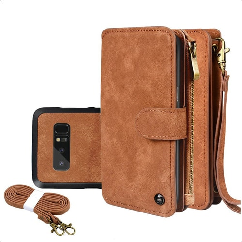 Cornmi Leather Wallet Case for Galaxy Note 8