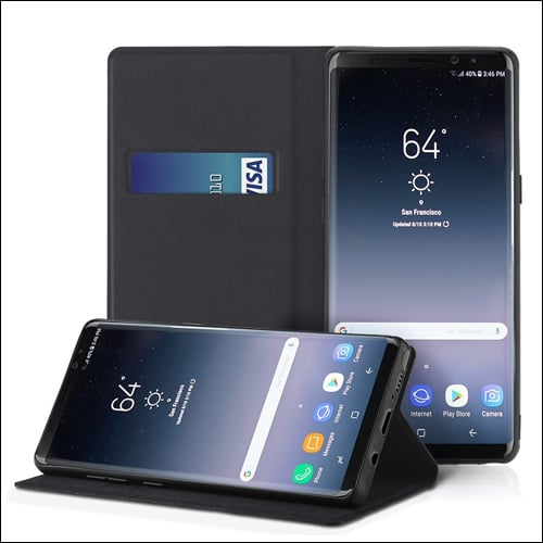 EasyAcc Leather Case with Card Holder for Galaxy Note 8