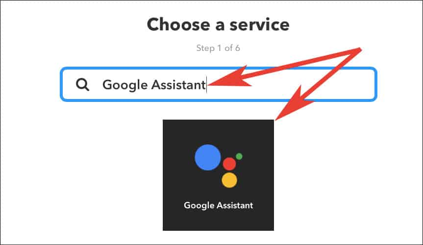 Enter Google Assistant in Search box and click on it