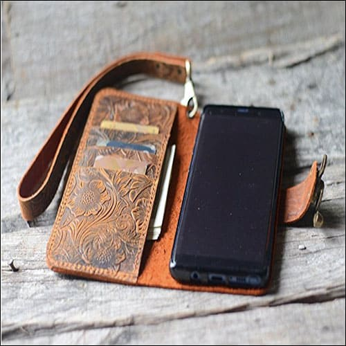 JJNUSA Handmade Leather Case for Samsung Galaxy Note 8