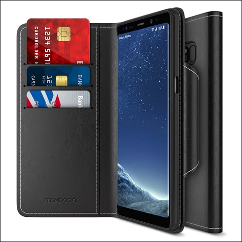 Maxboost Leather Flip Cover for Galaxy Note 8