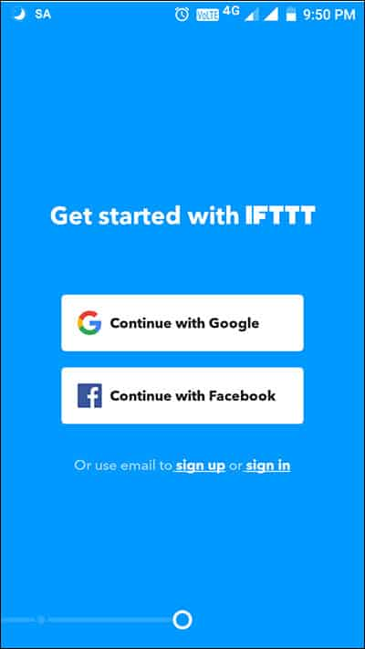 Open IFTT on your phone