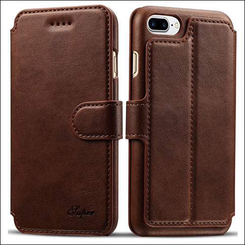 Pasonomi iPhone 8 Plus Wallet Case