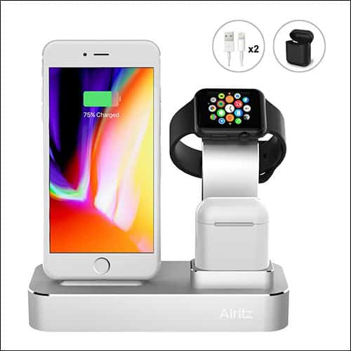 Alritz Desktop Charging Station for iPhone X, iPhone 8, iPhone 8 Plus