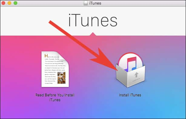 Click on Install iTunes.pkg to get App Store Back