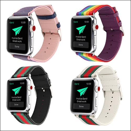 Huanlong Apple Watch Series 3 Leather Band