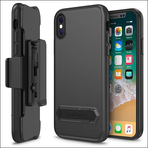 Maxboost iPhone X Belt Clip Case