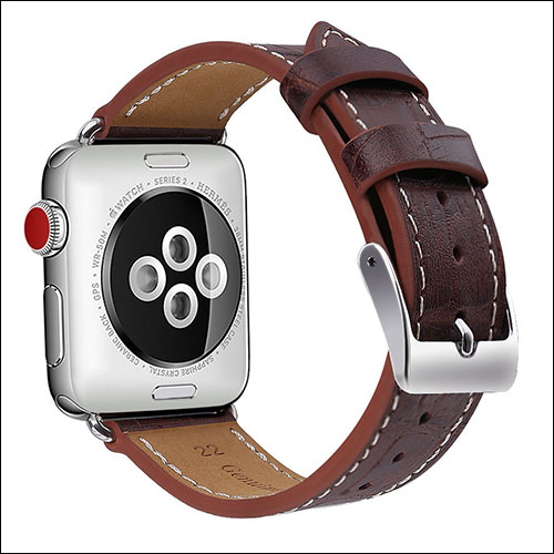 OULUOQI Apple Watch Series 3 Leather Band