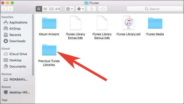 Open Previous iTunes Libraries