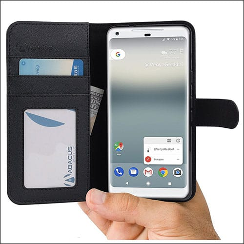 Abacus24-7 Leather Wallet with Flip Cover for Google Pixel 2