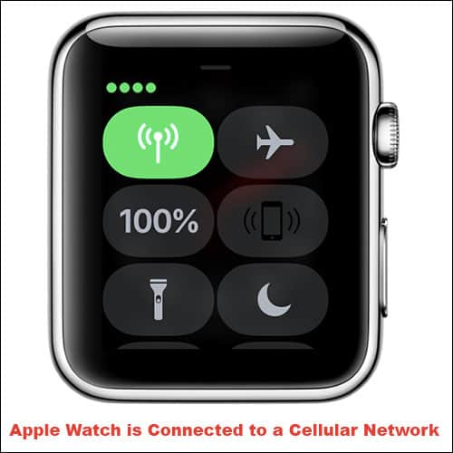 Apple Watch is Connected to a Cellular Network