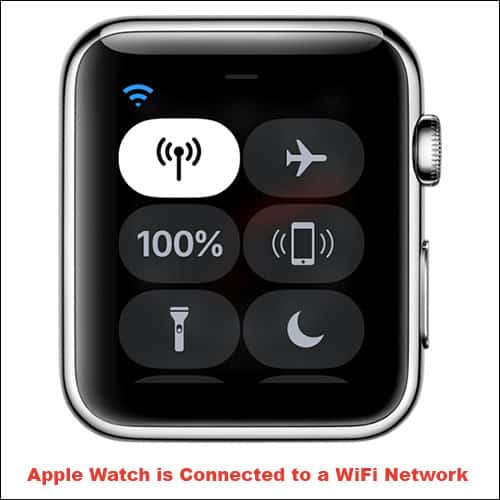 Apple Watch is Connected to a WiFI Network