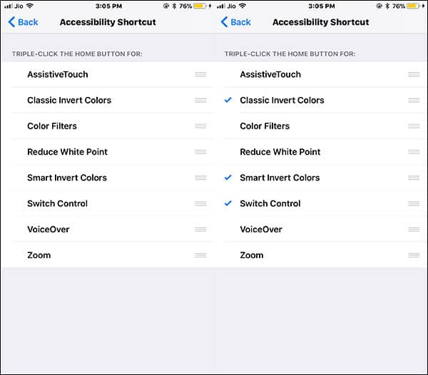 Choose Accessibility Shortcuts by tapping on it