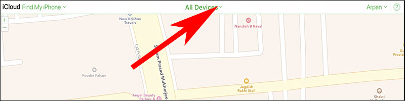 Click on All Devices in Find my iPhone App from icloud  - Click on All Devices in Find my iPhone App from icloud - How to Delete or Remove Apple ID from iPhone and iPad Completely