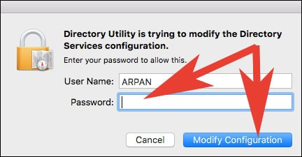 Enter Password and Click on Modify Configuration