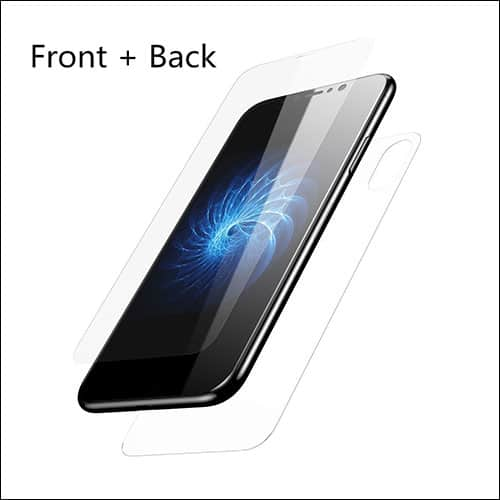 Fullcharm iPhone X Front and Back Glass Screen Protector