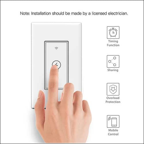 GRESATEK Light Switch for Google Home and Google Assitant