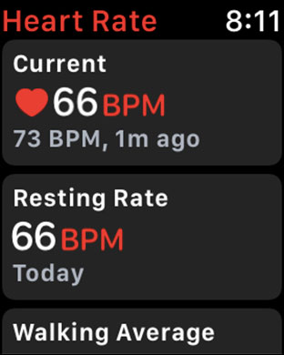 Heart Rate Mornitoring in Apple Watch