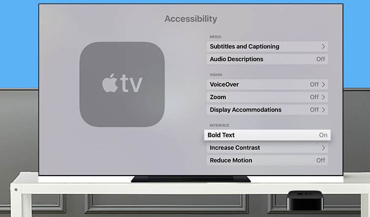 How to Enable Bold Text on Apple TV
