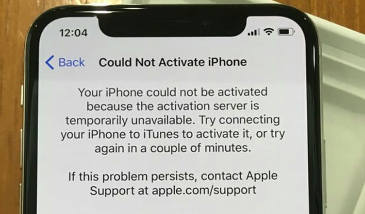 How to Fix Could Not Activate iPhone Error on iPhone X