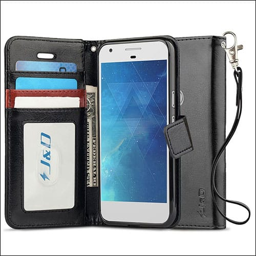 JD Heavy Duty Protective Flip Wallet Case for Pixel 2