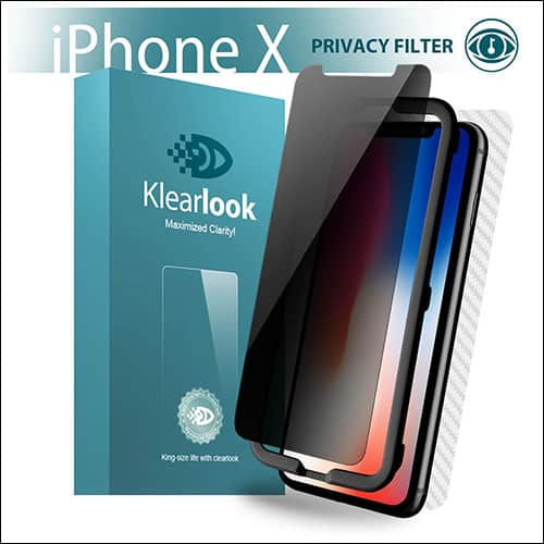 Klearlook iPhone X Front and Back Glass Screen Protector