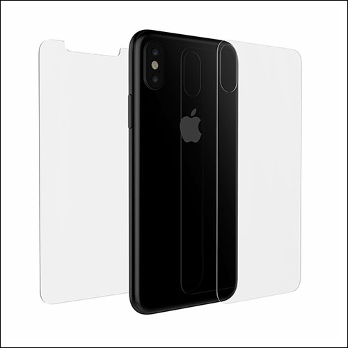 Luvvitt iPhone X Front and Back Glass Screen Protector
