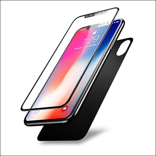 Olixar iPhone X Front and Back Glass Screen Protector