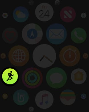 Open Workout App in Apple Watch