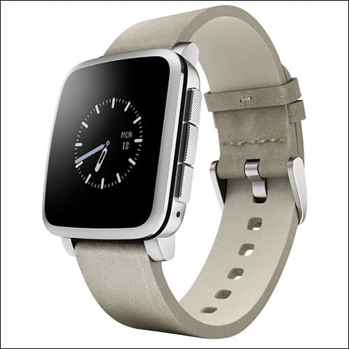Pebble Time Steel Smartwatch for iPhone
