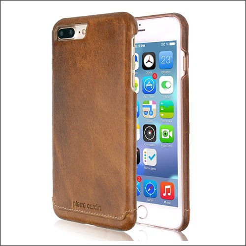 Pierre Cardin iPhone 8 Plus Leather Case
