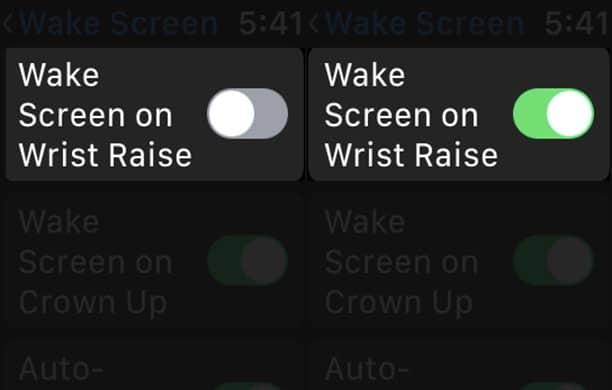 Activate Wake Screen on Wrist Raise on Apple Watch