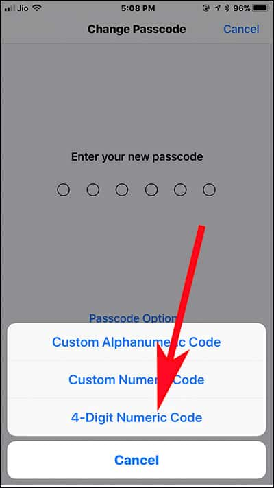How to Change 6 Digit Passcode to 4 Digit on iPhone and iPad