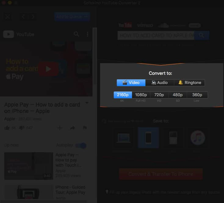 Choose File Format from Video, Audio and Ringtone