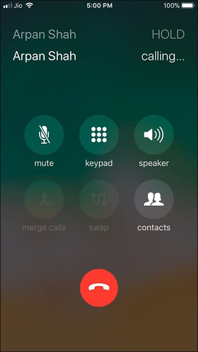 Merge two or More iPhone Calls