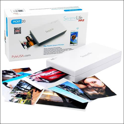 SereneLife PickIt20 Portable Instant Mobile Photo Printer