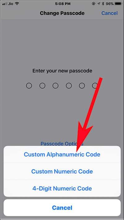 Tap on Custom Alphanumeric Code on iPhone and iPad